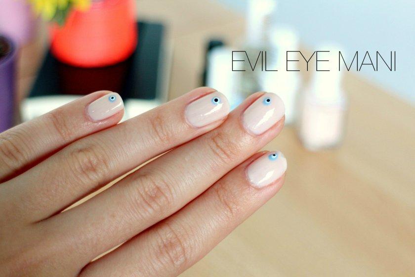 nail art, evil eye